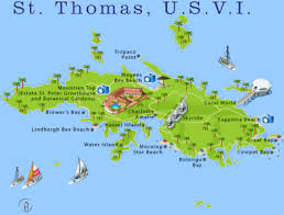 road map of st usvi road map of st usvi major tourist attractions maps