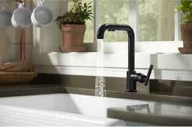 kohler purist kitchen faucet faucet com k 7505 bl in matte black by kohler