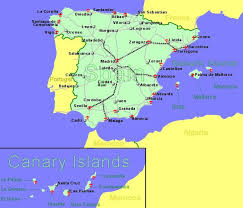 map of spain large clickable map of spain airports