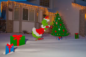 Outdoor Christmas Yard Decorations by How The Grinch Stole Christmas Decorations Christmas Lights
