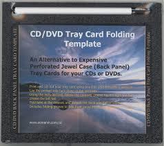 cd dvd tray card folding template