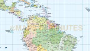 America World Map by Digital Vector World Map Equirectangular Projection World Vector