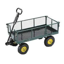 home depot black friday folding cart tricam 700 lb steel garden cart sc100d at the home depot home