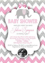 pink and grey elephant baby shower elephant baby shower invitations pink gray glitter chevron