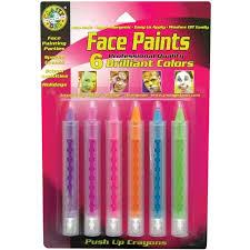 face paint push up crayons 6 pkg brilliant walmart com