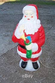 outdoor plastic lighted santa claus empire plastic blowmold 40 light up christmas santa claus outdoor