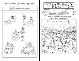 testament bible lessons for children s worship bulletins