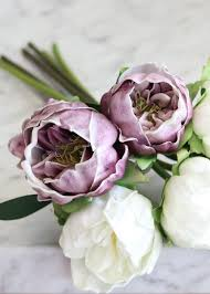 peony bouquet lavender white real touch peonies wedding bouquets afloral