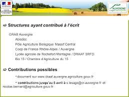 chambre d agriculture 15 de l agriculture biologique ppt télécharger