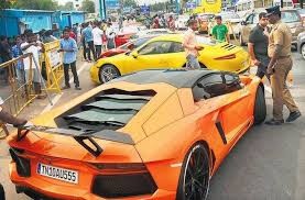 lamborghini car owners in chennai fast cars hit a stop drivers furious the hindu