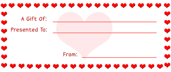 printable romantic gift certificates make gift certificates with printable homemade gift certificates and