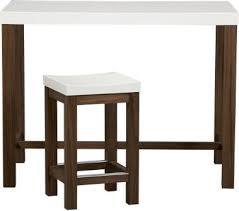 crate and barrel bar table and barrel delano 5 piece high dining table barstool set shopping