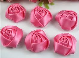 satin roses 18 pcs big satin ribbon flower diy craft appliques