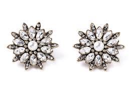 flower stud earrings wholesale chic vintage rhinestone flower stud earrings