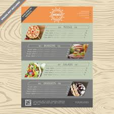 8 restaurant menu designs