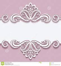 cutout paper frame with lace border ornament stock vector image