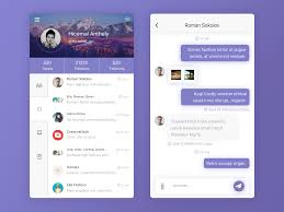 Behance Login by Chat App Page On Behance Mood And Inspiration Pinterest
