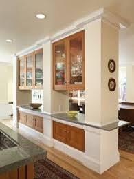 Living Room And Kitchen Design by Partial Wall Between Kitchen And Living Room Design Ideas