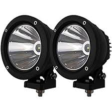 round led driving lights amazon com audak 2pcs 25w spot beam round led work light driving
