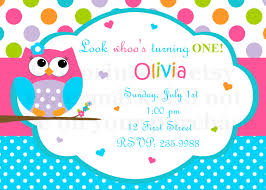 birthday invites fascinating owl birthday invitations ideas