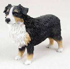 australian shepherd velcro dog australian shepherd tri color hand painted collectible dog figurine