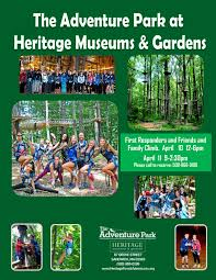 complimentary time at heritage museums and gardens adventure park