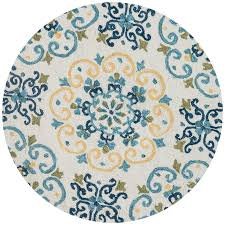 light blue round area rug shop loloi francesca ivory light blue round indoor handcrafted area