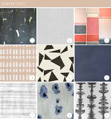 Temporary Fabric Wallpaper by The Best Wallpaper Roundup Ever Emily Henderson