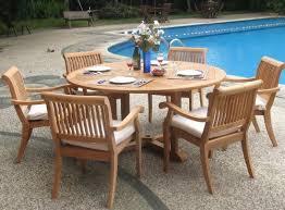 Wholesale Patio Dining Sets Wholesale Teak 7 Teak Dining Set With 60 Table Teak