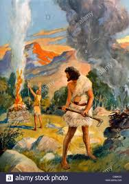 cain and abel make their offerings to god painting by henry coller
