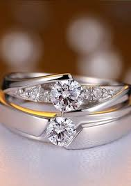 engagement rings for couples cheap matching promise rings with cz matching promise