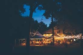 Backyard Wedding Lighting by Colorful Backyard Wedding