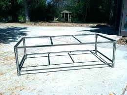 metal frame coffee table coffee table frame only etcetc co