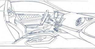 Interior Sketch by Alpine A110 Interior Sketch By Laurent Negroni Car Interior