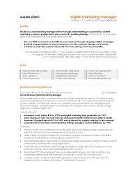 Resume For Marketing Job Resume Cv Cover Letter Sample Resume For Marketing Manager From