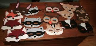 oh u201cdeery u201d my woodland felt animal masks and tutorial