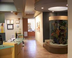 Fish Tank Reception Desk North Carolina Medical Dental Architectural Design Stagaard