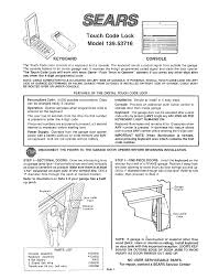 Craftsman Garage Door Openers Troubleshooting by Sears Garage Door Opener 139 53716 User Guide Manualsonline Com