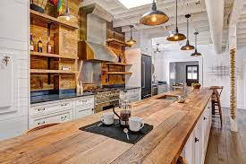 kitchen island columns country kitchen with wood counters columns in columbus oh