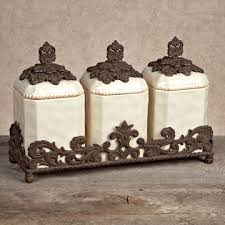 kitchen canister sets black kitchen canisters black fleur de lis