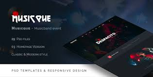 musician templates from themeforest