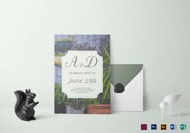 wedding invitations greenery 21 simple wedding invitation templates free premium templates