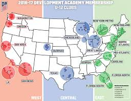 Map Of Northwest Florida by U S Soccer Development Academy