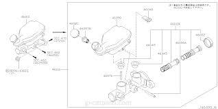 subaru cvt diagram 46010 ax000 cylinder assembly brake master note nissan