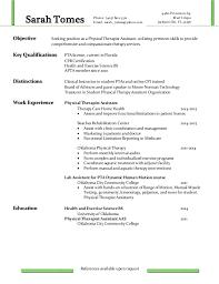 Hha Resume Samples by Pta Resume Resume Cv Cover Letter