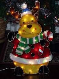 Christmas Moose Home Decor Outdoor Lighted Moose Ebay
