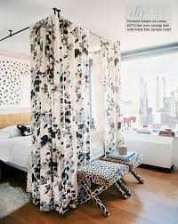 diy canopy bed without drilling pictures amys office lonny magazine canopy bed curtain rod ceiling elegant decorate over design ideas