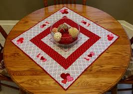 valentines day table runner square s day table runner baking and bobbins with robin