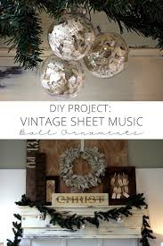 diy project vintage sheet ornaments