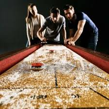 barrington 9 solid wood shuffleboard table rent to own barrington 9 classic wood shuffleboard flexshopper